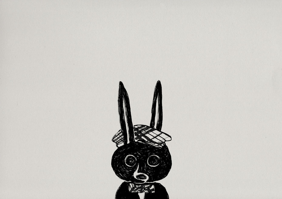 rabbit / Felt tip pen Takashi Miyata Illustration