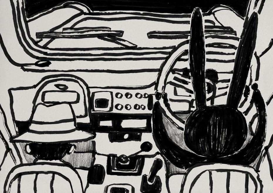 Land cruiser FD-classic / Felt tip pen Takashi Miyata Illustration