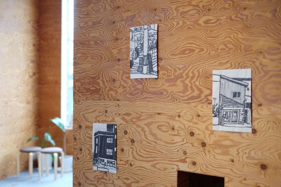 森×hako ギャラリー 通路壁面  | UID 一級建築士事務所 (Universal Innovation design)