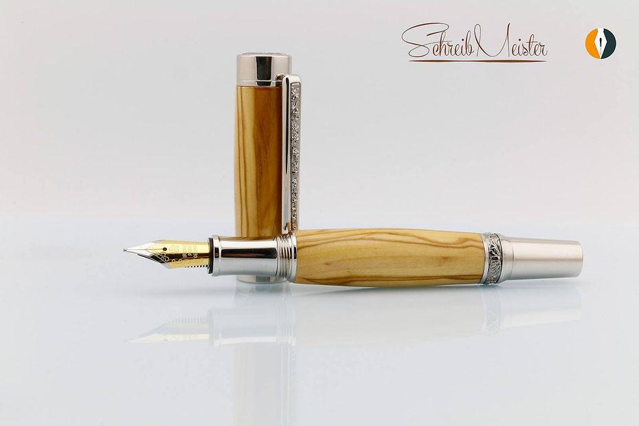 handgemachter Füller aus Holz edel