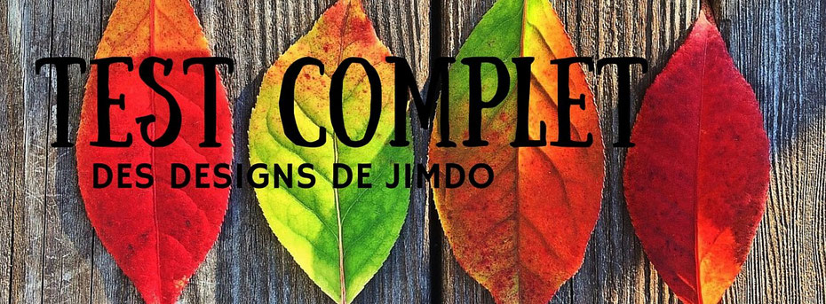 Test des nouveaux designs de Jimdo