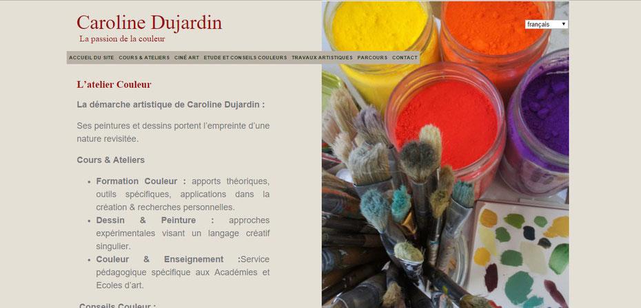 L'ancien site de Caroline Dujardin
