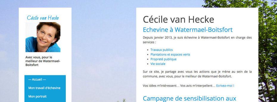 Avant/après pour Cécile van Hecke (de Wordpress à Jimdo)