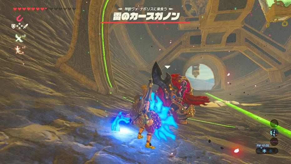 神獣ヴァ・ナボリスに巣食う 雷のカースガノン