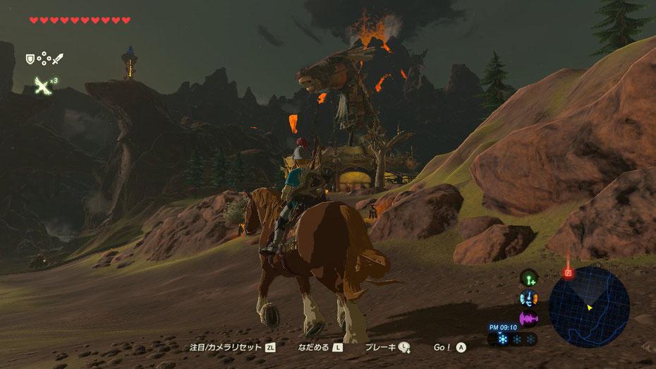 山麓の馬宿