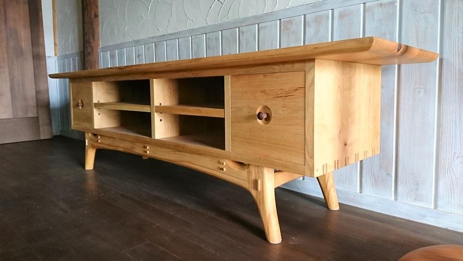 木の棚 手作りテレビ台