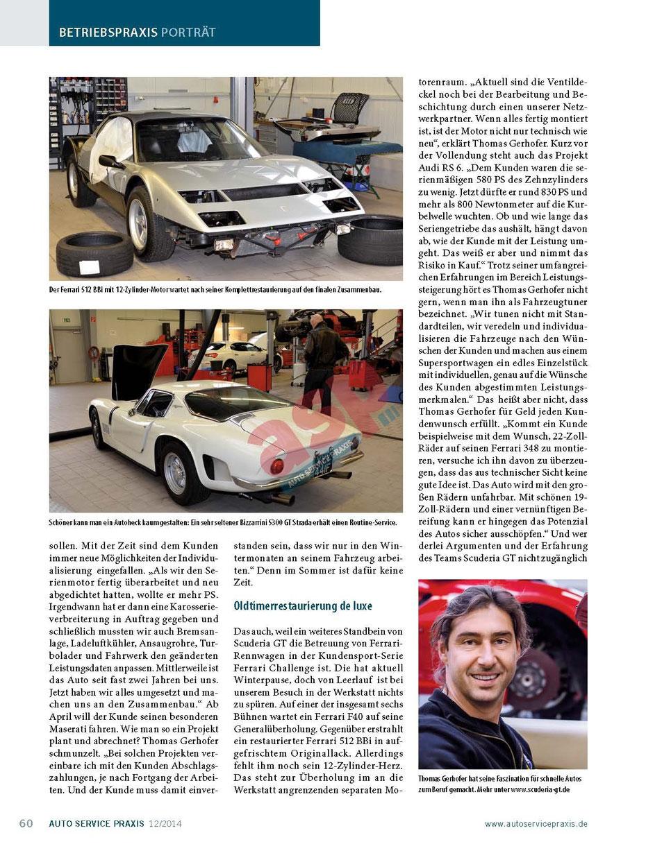 Scuderia GT: Der mit dem Wolf schraubt 3