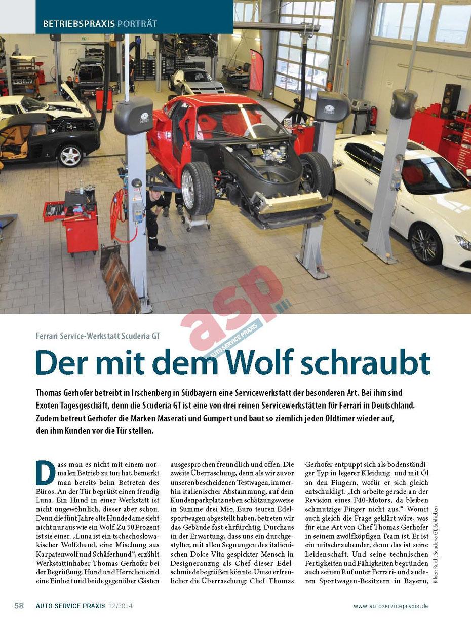 Scuderia GT: Der mit dem Wolf schraubt 1
