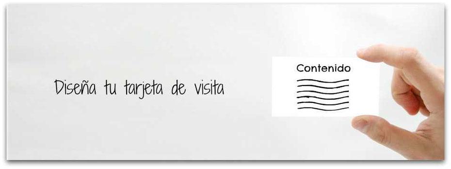Diseña tu tarjeta de visita, el contenido