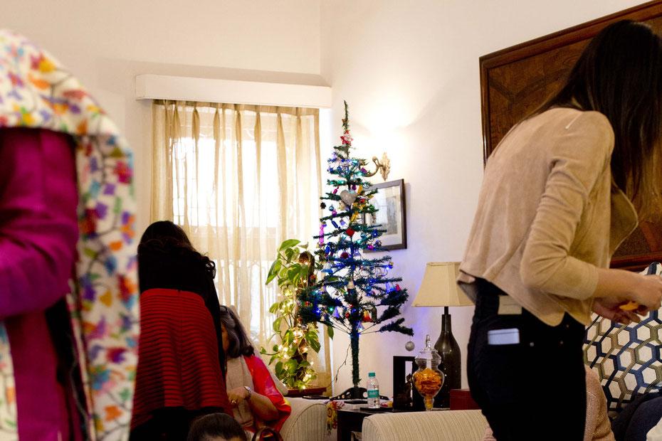 Weihnachtsbrunch bei Familie W., Delhi, Indien