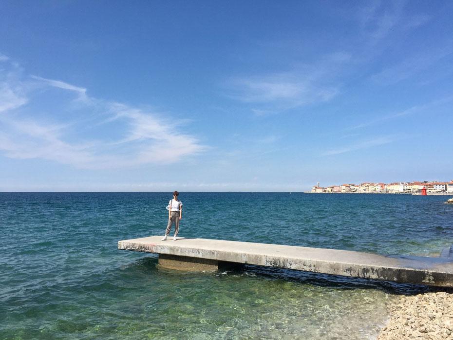 Strand von Piran / Beach of Piran