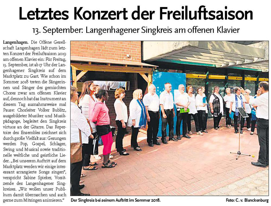 Langenhagener ECHO vom 11. September 2019