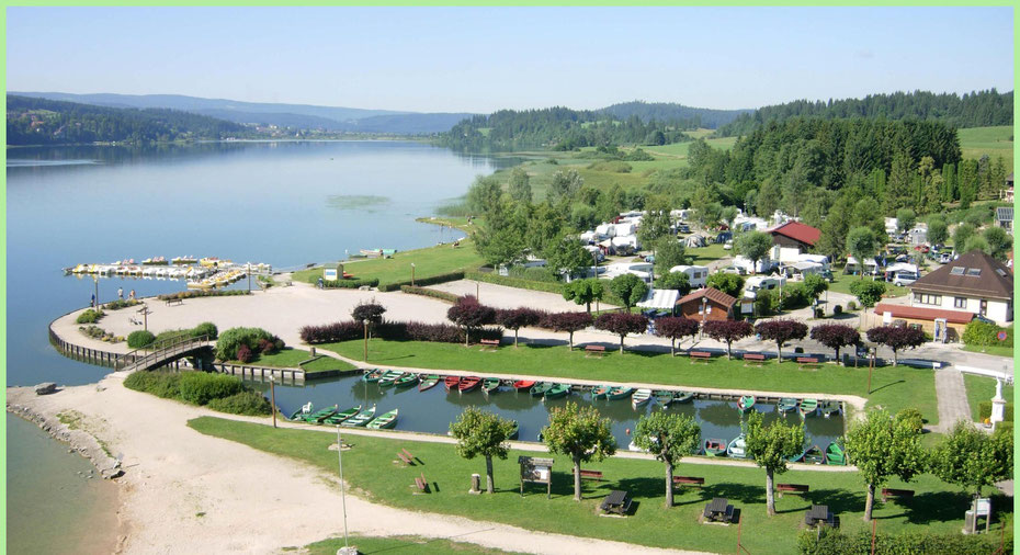 camping municipal Saint point lac