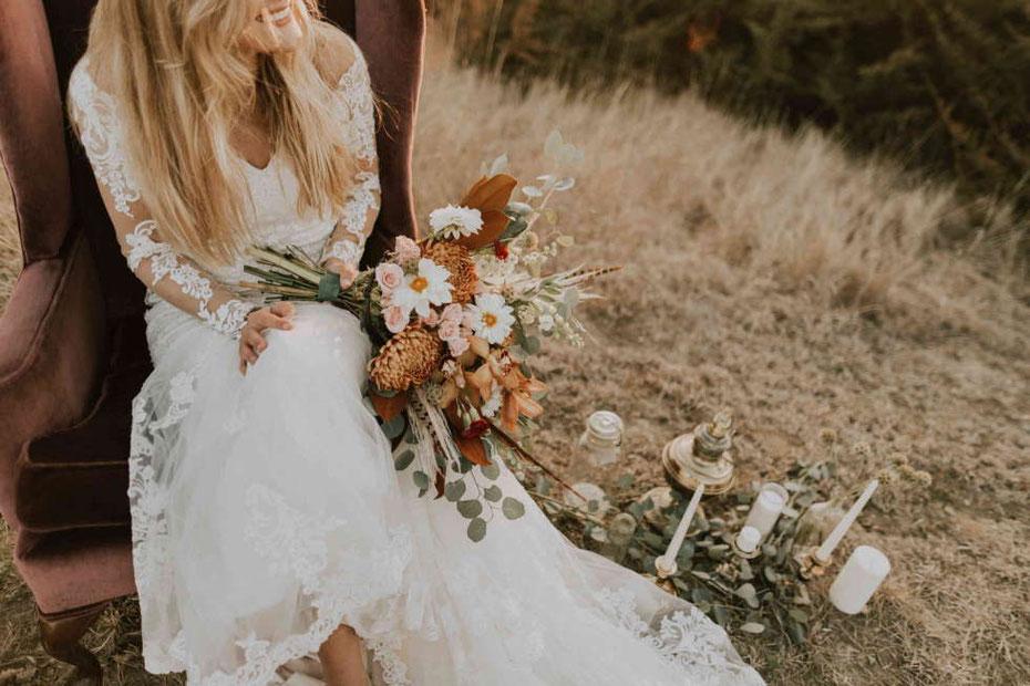 Boho Hochzeit: Boho Braut