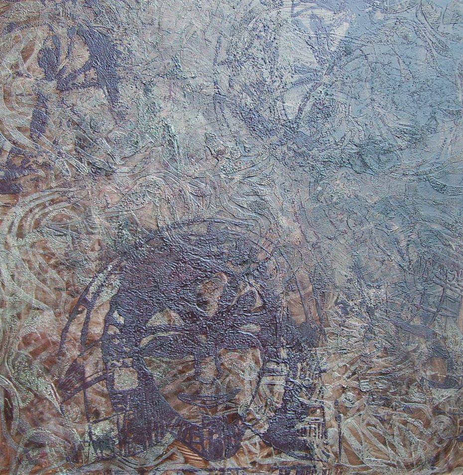 """""""Meine persönliche Ikone"""" 2011, Öl auf Leinwand, 100 x 100cm, Privatbesitz (Vechta)"""