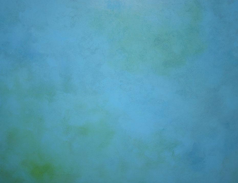 """""""Meeresgrund"""", 2009, Öl auf Leinwand, 200 x 150 cm, Privatbesitz"""