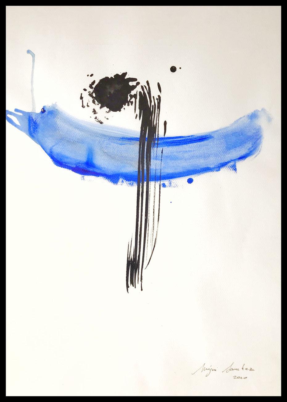 CL./5+ peinture et encre sur papier Format : 50x70 2020.