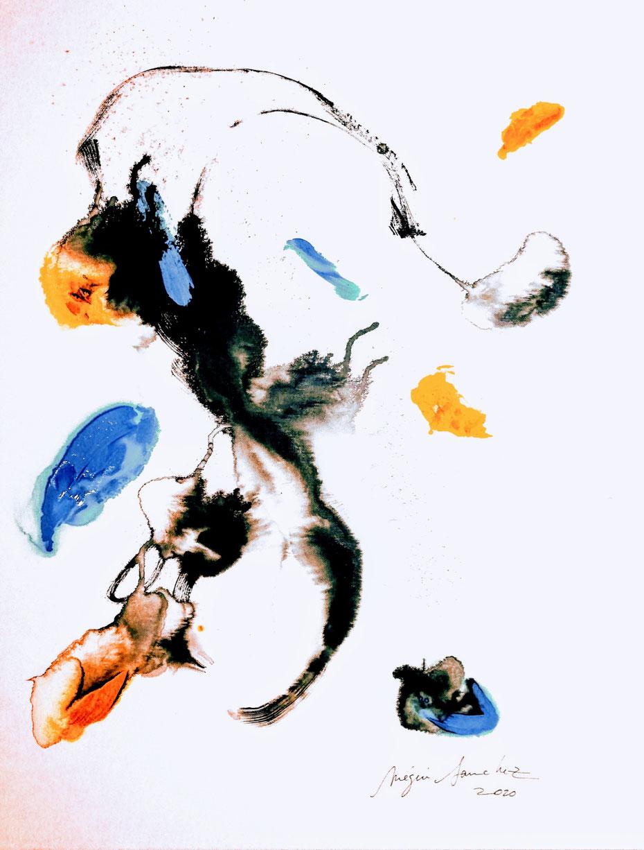 XII et X peinture et encre sur toile format 80/100