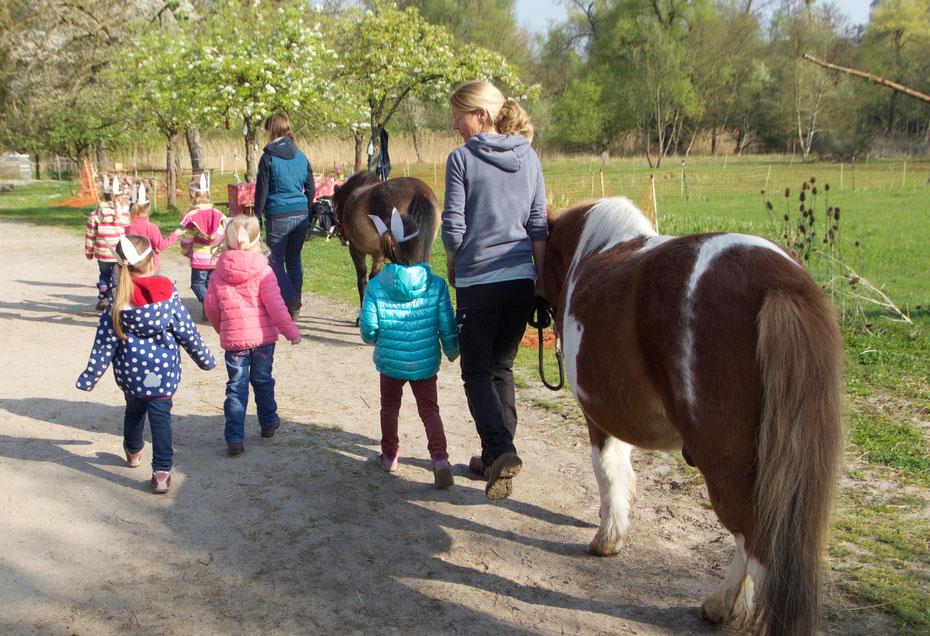 Ponybande Ponyreiten in Karlsruhe