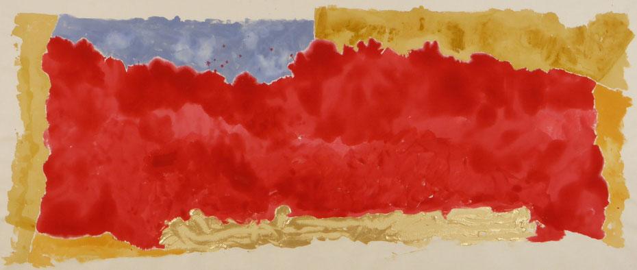 Geoffrey Ffoulkes-Jones - Sea of Possibilities 2015 - Acrylic on Canvas - 82 x 198 cm