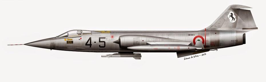 """Uno dei primi esemplari di """"Starfighter"""" presi in carico dall'A.M. completamente in N.M. ad esclusione delle ali."""