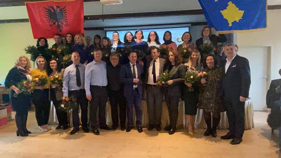 Me rastin e manifestimit të 7 Marsit, ditës së Mesuesit në Mynih të Gjermanisë