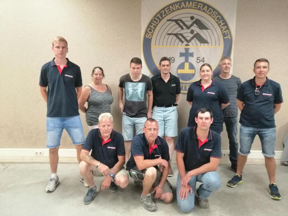 Die Teilnehmer der Freiwilligen Feuerwehr Aidlingen