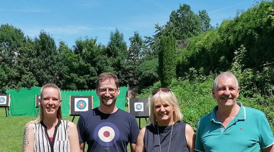 Schriftführer Klaus Wilhelm, stellvertretende Vorsitzende Sybille Lichey, Kassiererin Susanne Kowatsch und Vorsitzender Rudi Christoph.