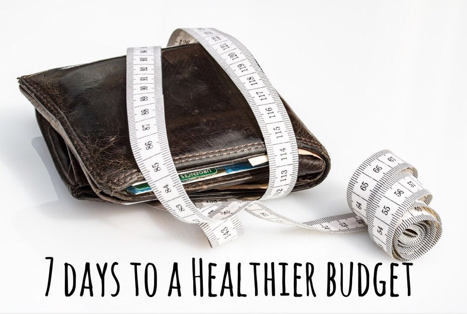 7 days to a healthier budget, shape up your money, budget, spending habits, low income