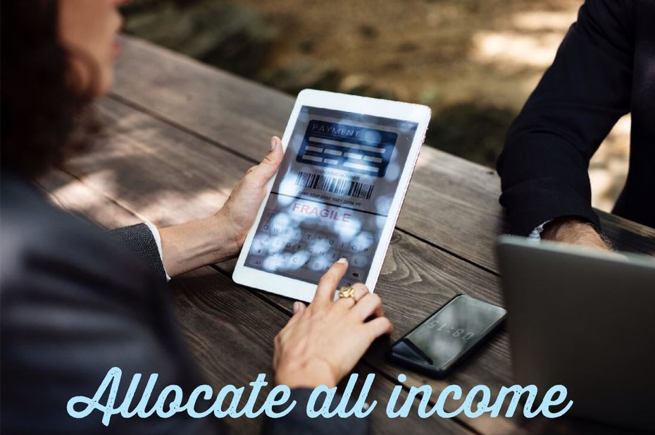 allocate all income, budget, saving money, low income, high income, household expenses,