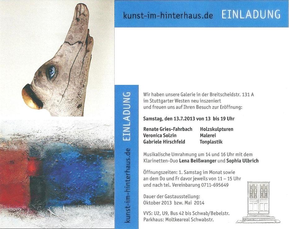 Kunst im Hinterhaus  Renate Gries-Fahrbach