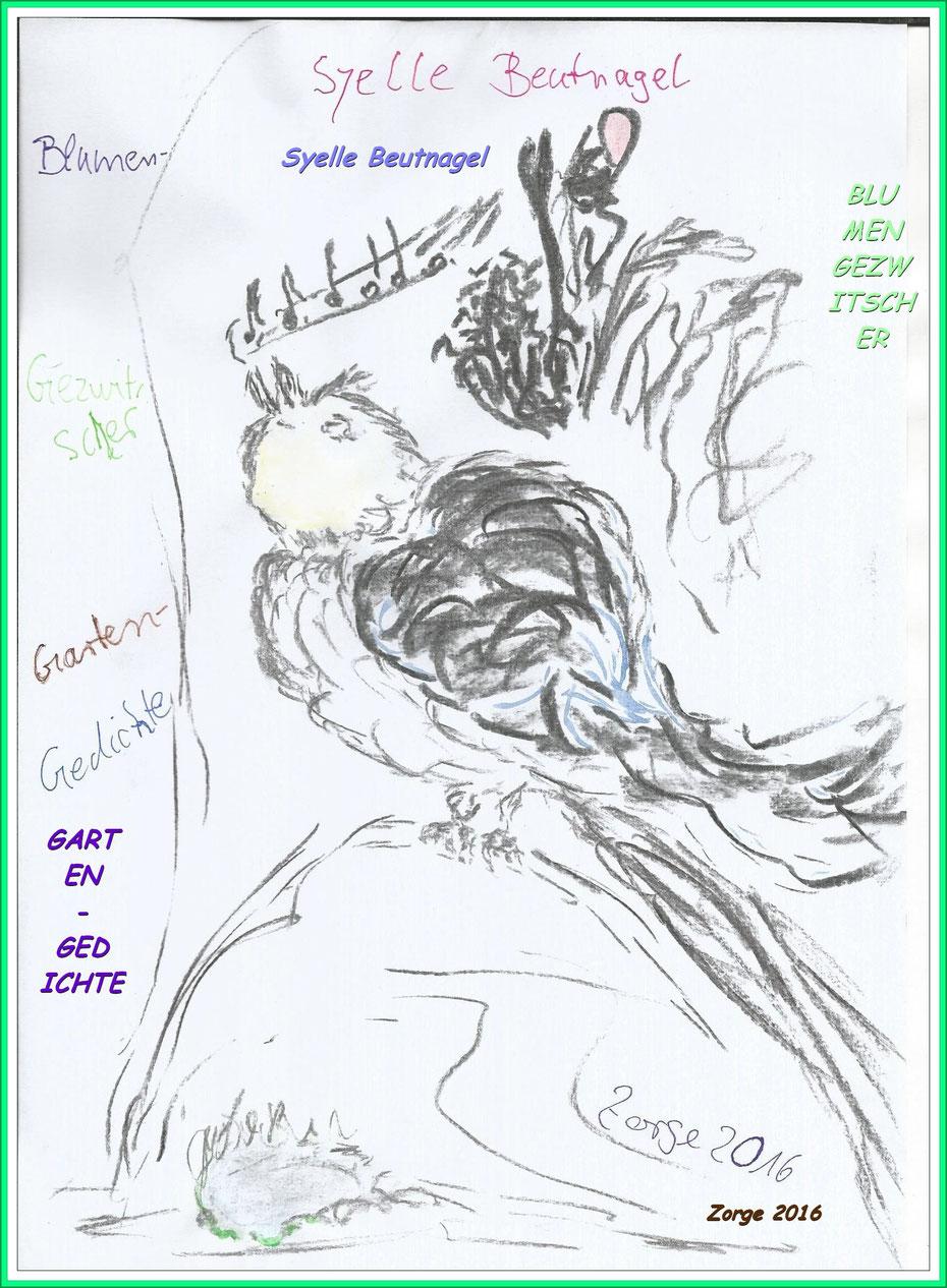 Buch-Cover Blumengezwitscher von Syelle Beutnagel