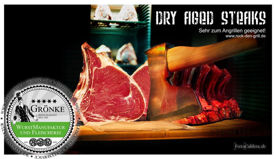 Dry aged Steak aus der Fleischerei Grönke (6 Wochen gereift)