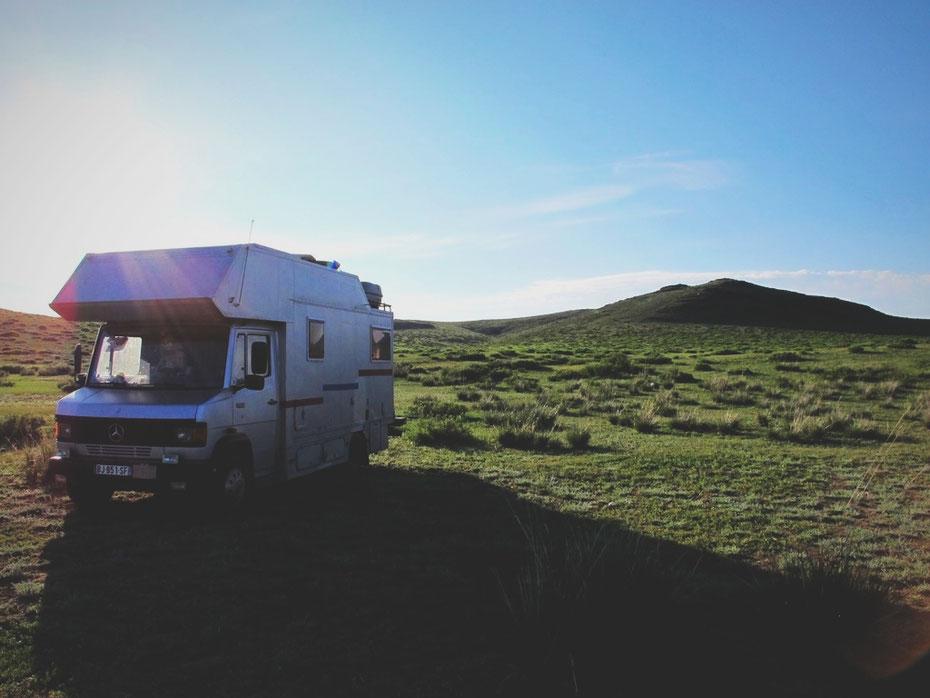 bigousteppes mongolie camion mercedes steppes