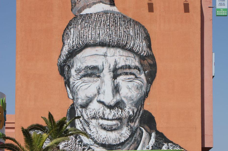 Street art, gare ONCF, Marrakech
