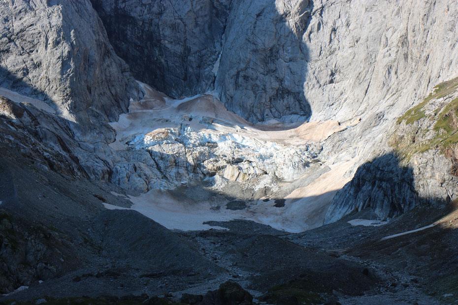 Glacier des Oulettes de Gaube, face Nord du Vignemale, Vallée de Gaube, Cauterets, Parc National des Pyrénées