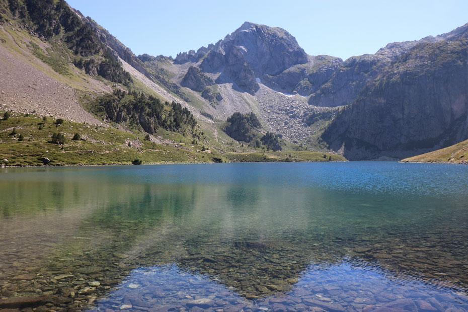 Lac d'Ilhéou (Lac Bleu), Vallée d'Ilhéou, Cauterets, Parc National des Pyrénées