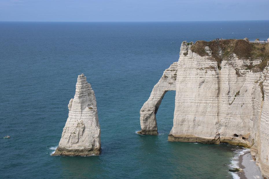 Falaises d'Etretat, falaises d'aval, Porte d'Aval et Aiguille d'Etretat