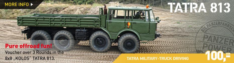 TATRA MILITARY TRUCK DRIVING