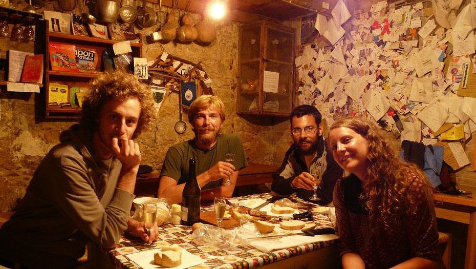 """Dégustation de produits régionaux a """"l'osteria senza host"""", l'auberge sans hôte..."""