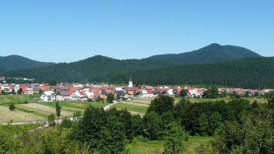 Petit village de Croatie