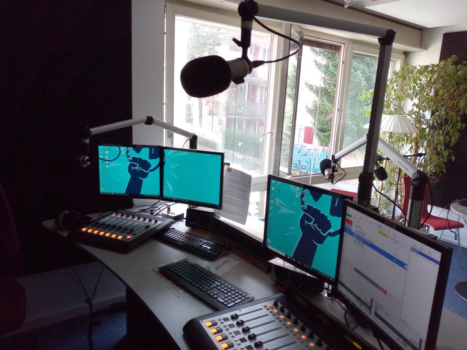 Studio RaBe mit interessanten Sendungen, auch mit Christian Grass