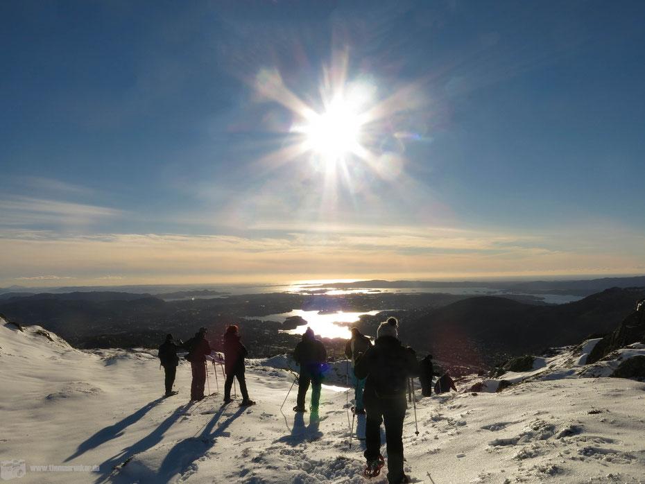 Bergen - Schneeschuhwandern