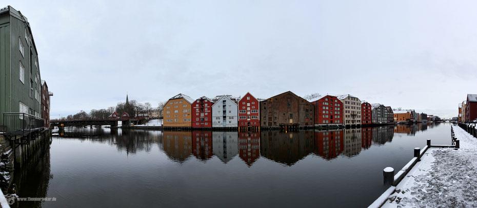 Trondheim - Lagerhäuser - Winter im hohen Norden
