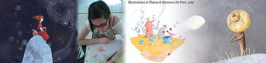 L'interview de l'illustratrice Eleonora De Pieri sur le BLOG, la Bulle Ludique Originale Gratuite de Cloé Perrotin