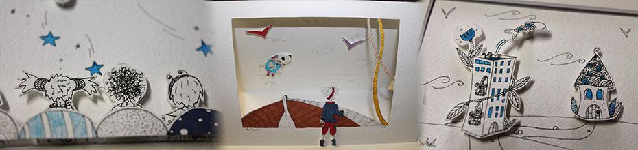 L'illustratrice Cloé Perrotin vous présente 2 DIY papercraft pour apprendre à être créatif à l'aide de papiers découpés