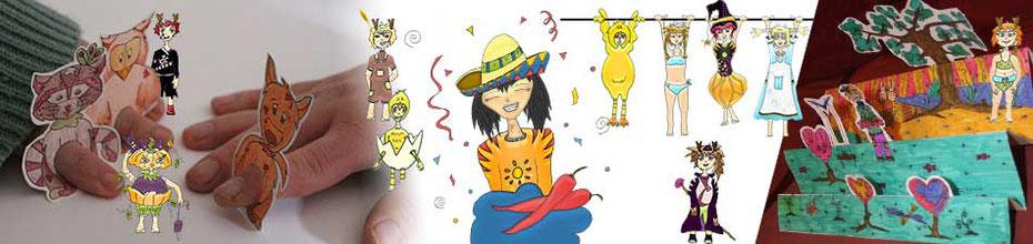 Bannière de la page des Goodies de l'illustratrice auteur Cloé Perrotin