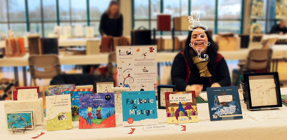 Cloé Perrotin l'illustratrice auteure en mode loup-phoque pour ses livres
