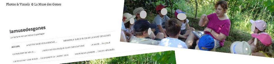 """Aperçu du site de l'association de la promotion à la lecture """"La Muse des Gones"""", sur le BLOG : la Bulle Ludique Originale Gratuite"""