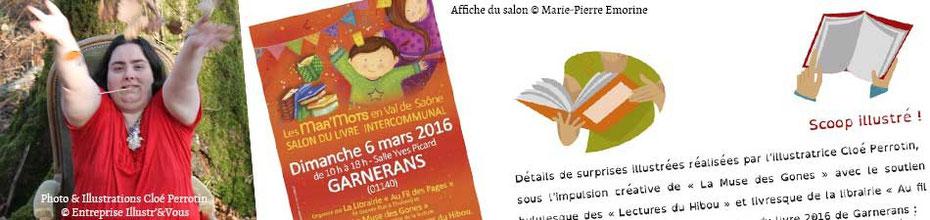 """Annonce des surprises illustrées réalisées pour le salon 2016 """"Les Mar'Mots en Val de Saône"""", sur le BLOG : la Bulle Ludique Originale Gratuite"""